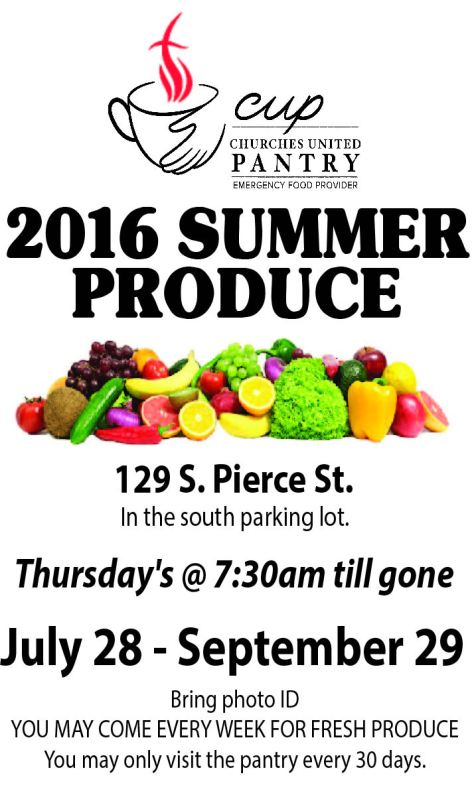 Summer Produce Poster