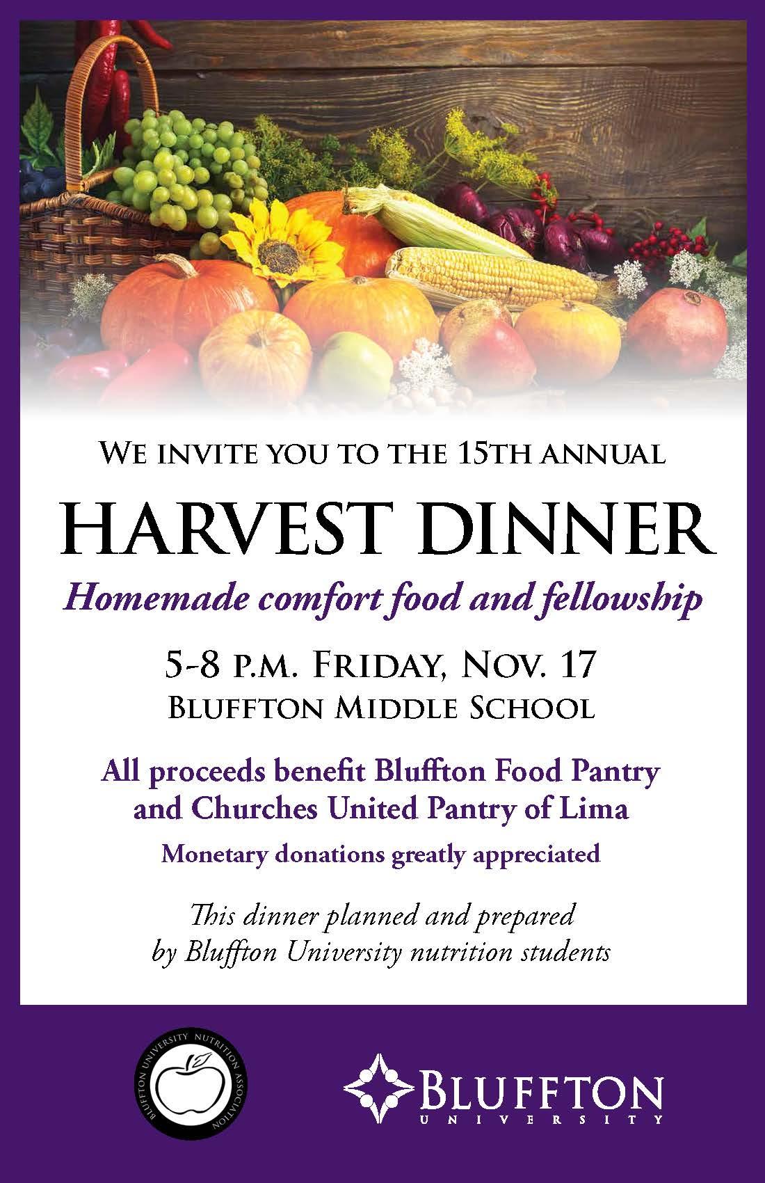 Harvest Dinner Poster 2017